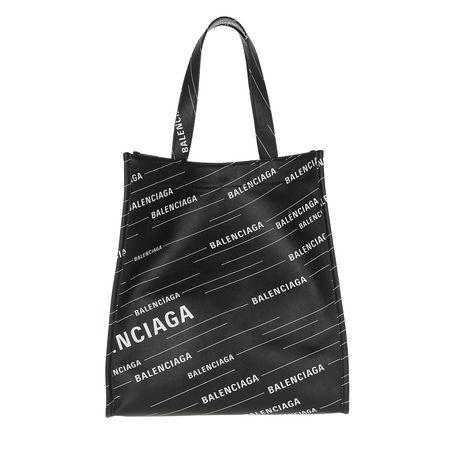 Balenciaga  Tote  -  Small Market Shopper Black/White  - in schwarz  -  Tote für Damen grau