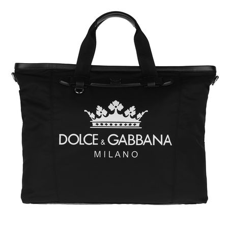 Dolce&Gabbana  Tote  -  Logo Print Weekend Bag Nylon Black/White  - in schwarz  -  Tote für Damen schwarz