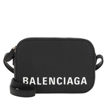 Balenciaga  Umhängetasche  -  Ville Crossbody Bag Black/White  - in schwarz  -  Umhängetasche für Damen grau