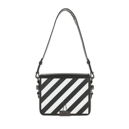 OFF-WHITE  Umhängetasche  -  Diag Flap Bag Black/White  - in weiß  -  Umhängetasche für Damen grau