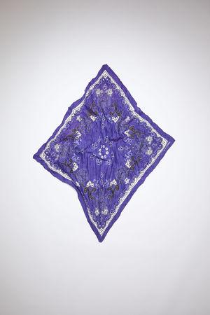 Acne Studios  FN-UX-SCAR000135 Blue/white Paisley scarf