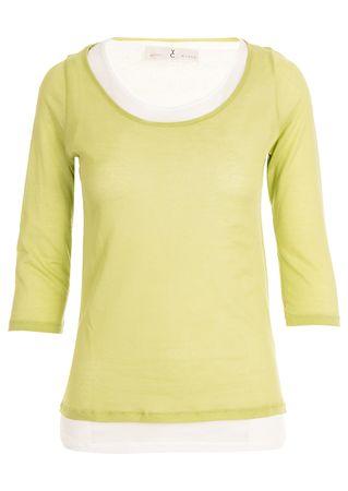 Whyci Shirt aus Baumwolle in Grün und Weiß gruen