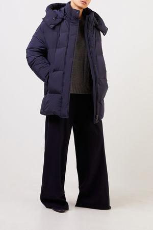 Woolrich  - Daunenjacke 'Aurora' mit Kapuze Marineblau