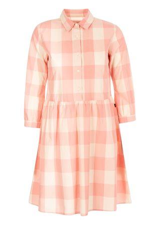 Woolrich Kleid aus Baumwolle in Rosa-Créme orange