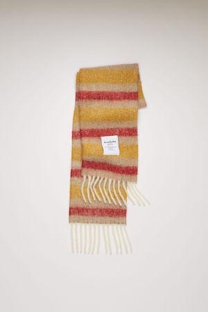 Acne Studios  FN-UX-SCAR000118 beige/red/yellow Striped scarf grau