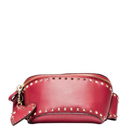 Yess ® - Handtasche aus Leder in Rot für Damen, Größe UNI rot