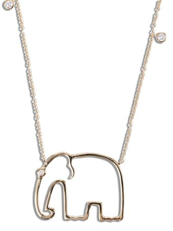Yvonne Léon Yvonne Leon - Goldhalskette 'Elephant 9kt Gold braun