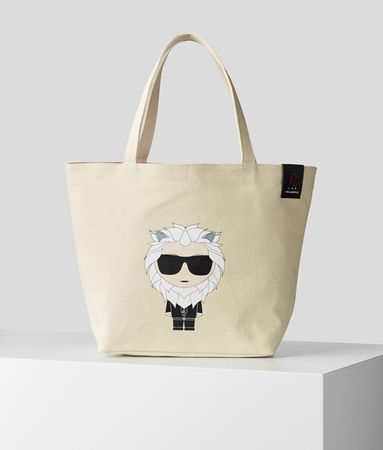Karl Lagerfeld K/Zodiac LEO ZWEISEITIGER SHOPPER grau