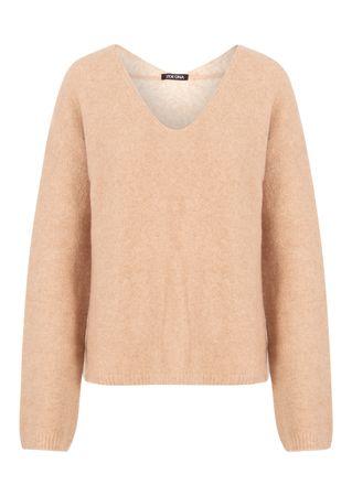 ZOE ONA Pullover aus Woll-Mix in Beige orange